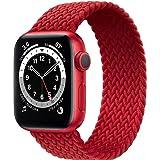 Fengyiyuda Solo Loop Intrecciato Compatible con Cinturino Apple Watch 38mm 40mm 42mm 44mm, Sportiva Nylon Ricambio Elastica C