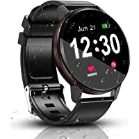 Smart Watch, IP68 Waterproof with 1.3 Inch Full Touch Screen Bluetooth Smartwatch, Fitness &Activity Tracker , Heart…