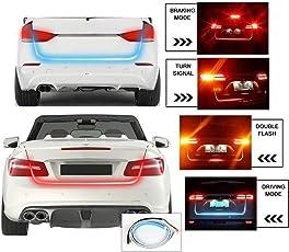 Motoway Car Tailgate Led Strip Light, Car Rear Tail Lights Streamer Brake Turn Signal Led Lamp Strip ,Red And Blue Color