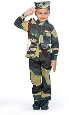 IndiaDressWala Border Security Force, BSF, Military, Army, Soldier Jungle Pattern Community Worker & Helper Fancy Dress CostumeUniform (2-10 Years)