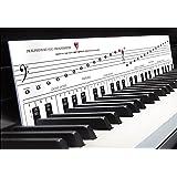 """KLAVIERSPIELEN lernen mit der TonGenau-Methode """"Klaviatur mit Herz"""" Tastenschablone/Klavierschule: Musiknoten, Notennamen, Tastenorientierung - Lernhilfe für Klavier & Piano. JETZT auch speziell für Keyboard!"""