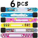 Th-some 6 PCS Bracelet Identification de Securite Enfant Étanche Réutilisable Bracelet de Secours SOS Sécurité pour Enfant JA