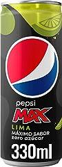 Pepsi Max Lima en Lata, Zero Azúcar, 330ml