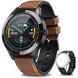 NAIXUES Montre Connectée Homme, Smartwatch Sport Podometre Cardiofrequencemètre 7 Modes d'entraînement, Montre Intelligente E