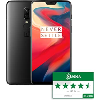"OnePlus 6 Smartphone (15,95 cm (6,28"") 19:9 Touch-Display, 8GB+128GB, Android 8.1 Oreo/Oxygen OS 5.1) Midnight Black"