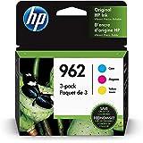 HP 962 | 3 Ink Cartridges | Cyan, Magenta, Yellow | 3HZ96AN, 3HZ97AN, 3HZ98AN