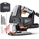 TACKLIFE 800W Seghetto Alternativo, 3000RPM, 6 Velocità Modulabile, Profondità di Taglio in Legno: 100 mm; in Metallo 10mm, T