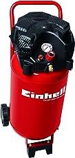 Einhell Kompressor TH-AC 240/50/10 OF (1,5 kW, 50 L, Ansaugleistung 240 l/min, 10 bar, ölfrei, stehende platzsparende Bauweise)