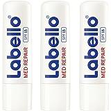 Labello Med Repair im 3er Pack (3 x 4,8 g), Lippenpflegestift mit Sonnenschutz (LSF 15) und Vitamin E für intensiven Lippenschutz, Lippenpflege ohne Mineralöle