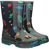 Mountain Warehouse Botas de Agua Splash Junior con Luces parpadeantes para niños - Duraderas, de Limpieza fácil - La Suela se