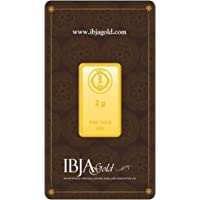 IBJA Gold 24k (999) 2 gm Yellow Gold Bar