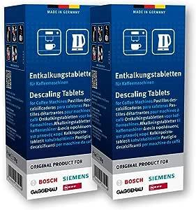 3 PASTIGLIE Anticalcare per Bosch verocup 100 il pulitore e decapanti Tabs