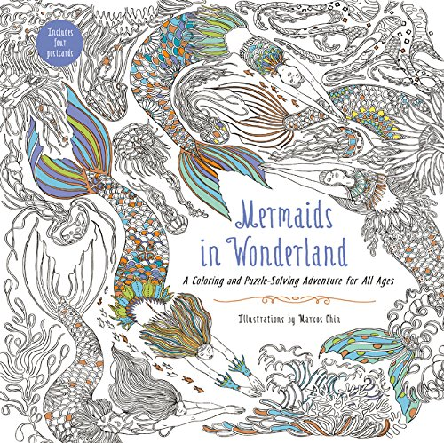 Mermaids in Wonderland: A Coloring and Puzzle-Solving Adventure for All Ages (Für Erwachsene Home-design-spiele)