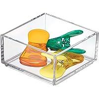 iDesign range couvert, extra-petit casier rangement plastique, rangement tiroir pour couverts et divers ustensiles…