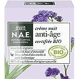 N.A.E. - Crème Nuit Anti Âge Visage - Formule Certifiée Bio - Huile de Pépins de Raisin Bio, Extrait d'Aloe Vera Bio et Acide