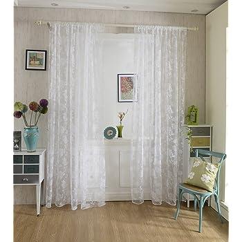 voilage rideau en voile paravent motif de pivoine de flocage pour porte fen tre balcon 200cm x. Black Bedroom Furniture Sets. Home Design Ideas