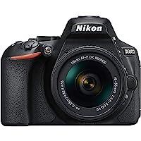 Nikon D5600 Digital SLR im DX Format mit AF-P DX 18-55mm VR (24,2 MP, 3,2 Zoll/8,1 cm dreh- und neigbarer Touch-Monitor…