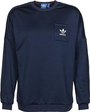 Originals Budo Men's Neck Navy XsAmazon Crew Sweatshirt Adidas yvIYf76gb