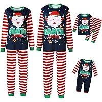 NMVB Matching Family Christmas Pyjamas Set Cotton SANTA SQUAD Striped Print Xmas Pjs Pajamas Sets Holiday Nightwear…