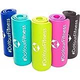 Fitnessmatte ideal für Pilates Gymnastik Heimsport und Yoga ab 0,8cm Dicke bis 2cm / Maße 183x61 bzw 190x100 Yogamatte Sportmatte Sportunterlage Gymnastikmatte Pilatesmatte Trainingsmatte