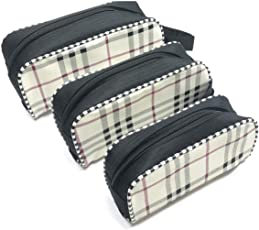 SEPAL Travel Portable Set of 3 Zipper Pouch for Cosmetic/Baby Product/Jewelry/Pen-Pencil Pouch Medicine/Toiletry/Shaving kit