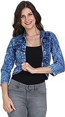 G.S.A ENTERPRISES Women Trendy Look Solid Denim Full Sleeve Sky Blue Shrug