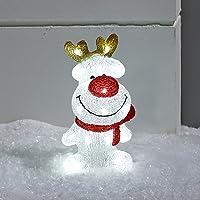 Lights4fun Renne Lumineux LED de Noël pour Intérieur ou Extérieur