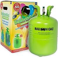 QEM Deguizland Grande Bouteille hélium XL50 pour gonfler gonfler 50 Ballons de baudruche de 23cm (Non inclus)