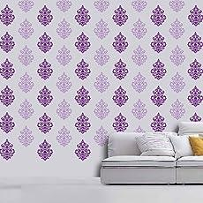 ARHAT STENCILS ASR-E112 Damask PVC Glossy Wall Stencils