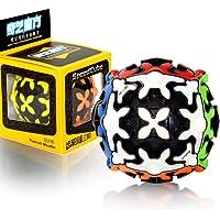 QY Toys 3x3 Balle Gear Cube 3x3x3 Speed Magic 3D Gear Puzzle Cube de Vitesse Magique Noir