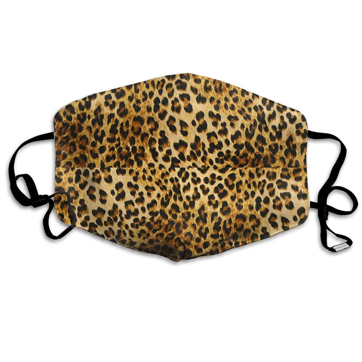 Vbnbvn Boca Máscara,Mascarillas,Máscaras bucales,Leopard Pattern Anti Dust Face Mouth Cover Mask Respirator – Dustproof Anti- Washable – Reusable Masks Respirator Windproof Mask