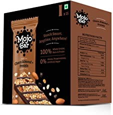 Mojo Bar Choco Almond Protein Snack Bar, 480g (Pack of 15)