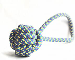 Foodie Puppies Dog Chew Ball Rope Toy (Color May Vary)