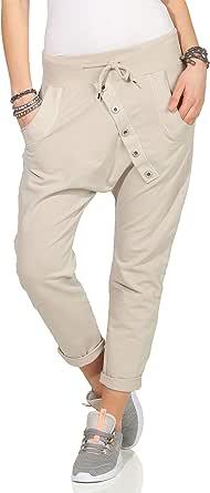 Mississhop - Pantaloni sportivi da donna, in cotone, per il tempo libero
