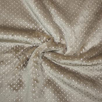 Silver Star Luxury Fur Fleece Minkee Cuddle Supersoft Fabric Ivory