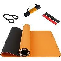 Summer Mae Tappetino Yoga Antiscivolo, Yoga Mat TPE da 5 mm a Doppia Faccia, Fitness Pilates e Ginnastica 183 × 61 cm