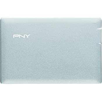 PNY PowerPack 2500 mAh Credit Card External Rechargeable Battery for Smartphone Silver