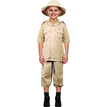 4ccb0a3ba9d57 BOYS SAFARI EXPLORER FANCY DRESS COSTUME JUNGLE ZOO KEEPER CHILDS BOOK DAY  WEEK (Safari Costume