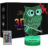 Uil 3D-lamp, uilengeschenken, uil, decoratief licht, uil, kindercadeau, 3D uil, nachtlampje met afstandsbediening, geschenkec