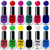 NOY® Quick Dry One Stroke Color Nail Polish Combo Offer Set of 12 in Wholesale Rate 6ml each (Purple, Orange Red, Plum…