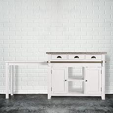 BUTLERS MAPLE HILL Küchenblock Mit Granitarbeitsplatte   Kücheblock Mit  Granitarbeitsplatte | Stilvolle Arbeitsplatte U0026 Stauraum Für