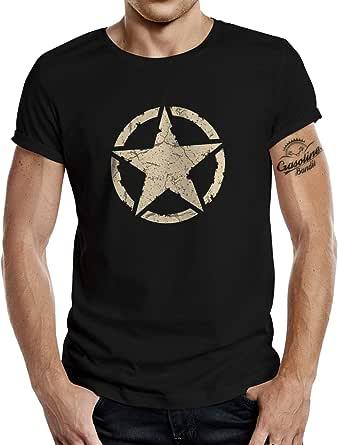 Maglietta classica per gli appassionati di esercito americano, vintage Star
