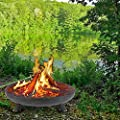 Tuff Concepts Large Steel Outdoor Garden Bowl Patio Fire Pit 80cm Bbq from Tuff Concepts