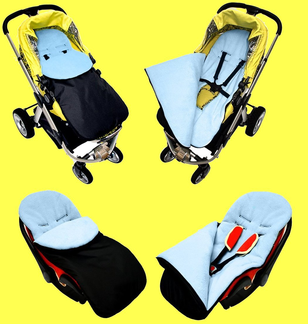 Universal Baby Stroller cosytoes Liner Buggy Padded Luxury Footmuff Wool Pattern 13