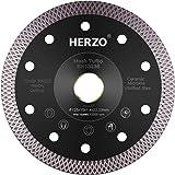Disco de corte de diamante 125 mm HERZO. Disco Diamante para corte de Porcelanico,Cerámica dura,Azulejos,Mármol,Granito,Piedr