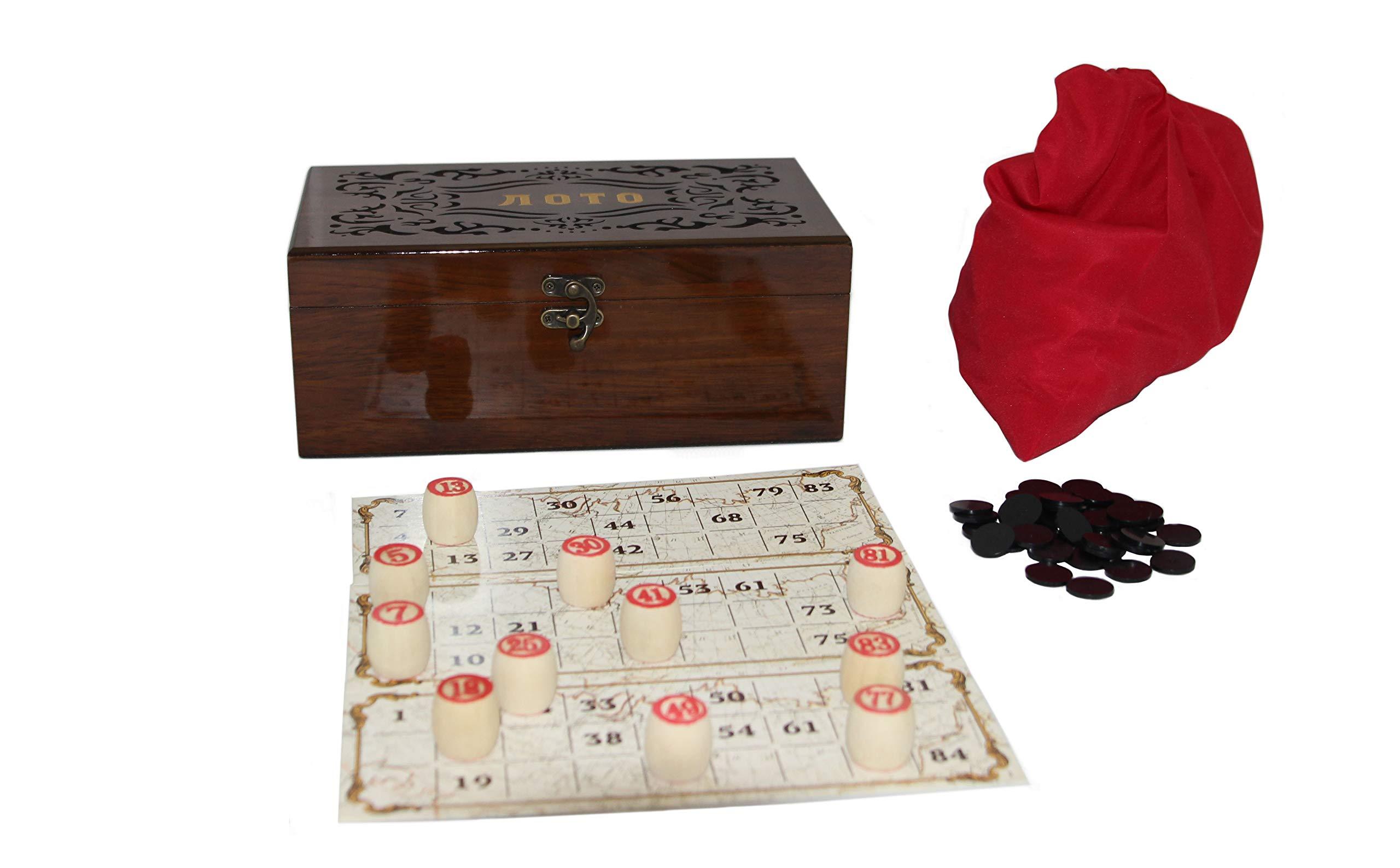 rukauf-Lottospiel-Russisches-Lotto-Loto-Spielset-im-schn-verzierten-Holzkasten-mit-Holzfiguren-Bingospiel-Familienspiel