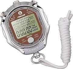 LAOPAO melt cronometro, display digitale 1/100 secondi Precision controluce metallo elettronico digitale cronografo timer calcio sport outdoor(Con visione notturna)