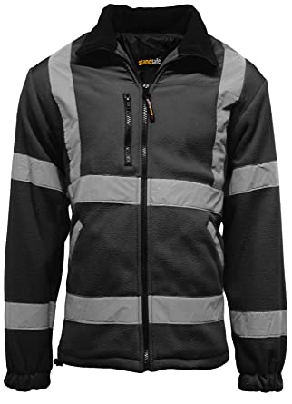 Dunlop hi vis fleece jacket men's