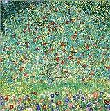 Poster 50 x 50 cm: Apfelbaum I von Gustav Klimt - Hochwertiger Kunstdruck, Kunstposter