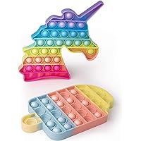 AnanBros [2er-Pack EIS+Einhorn Pop Fidget Toy Set Box, Pop Set, Push Pop Pop Bubble Fidget Toys, Baby Spielzeug, Pop…